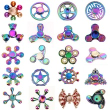 Rotation Time Long Tri-Spinner Fidget Funny Toys Metal EDC Fidget Spinner Hand Spinner For Kids Adults Anti Stress Toys(China)