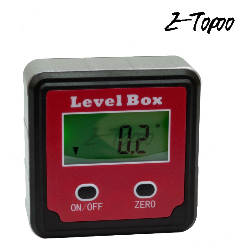 Electronic Protractor Inclinometer Magnetic Level Bevel Box with Back Light B1J4