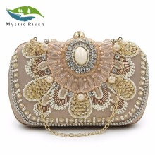 Mystic River New Brand Women Clutch Bags Ladies Day Clutch Meeting Wedding Party Bags Purses Camel White Black Good Quality