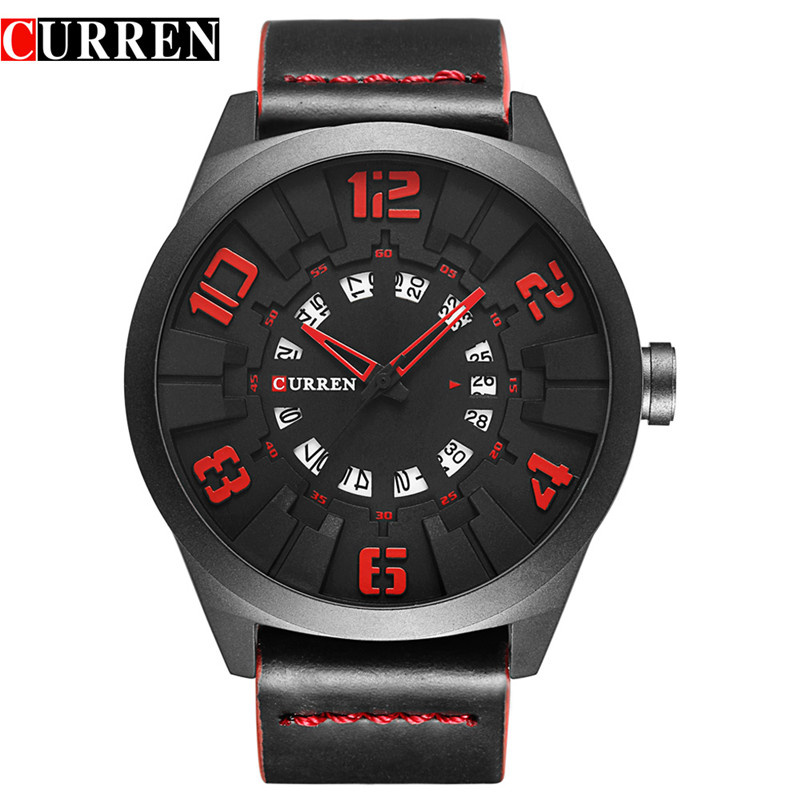 Curren Watch Men Brand Casual Quartz Watches Mens Leather Strap Waterproof Sport Military Watches Mael Clock Relogio Masculino<br>