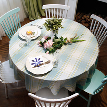 Round Table Cloth 19 Colors Flowers Geometry Solid Colors Round Table Dining Decor Cover Polyester Faux Linen Print Tablecloth