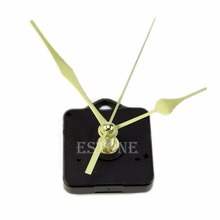 E74 Hot Sale Quartz Clock Movement Mechanism Long Spindle Gold Hand Kit DIY
