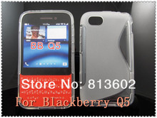 BB Q5 Tpu  Skin ,Antiskid Clear Wave Design Case Back Cover Skin Protector For Blackberry Q5 Via Free DHL,HIgh quality