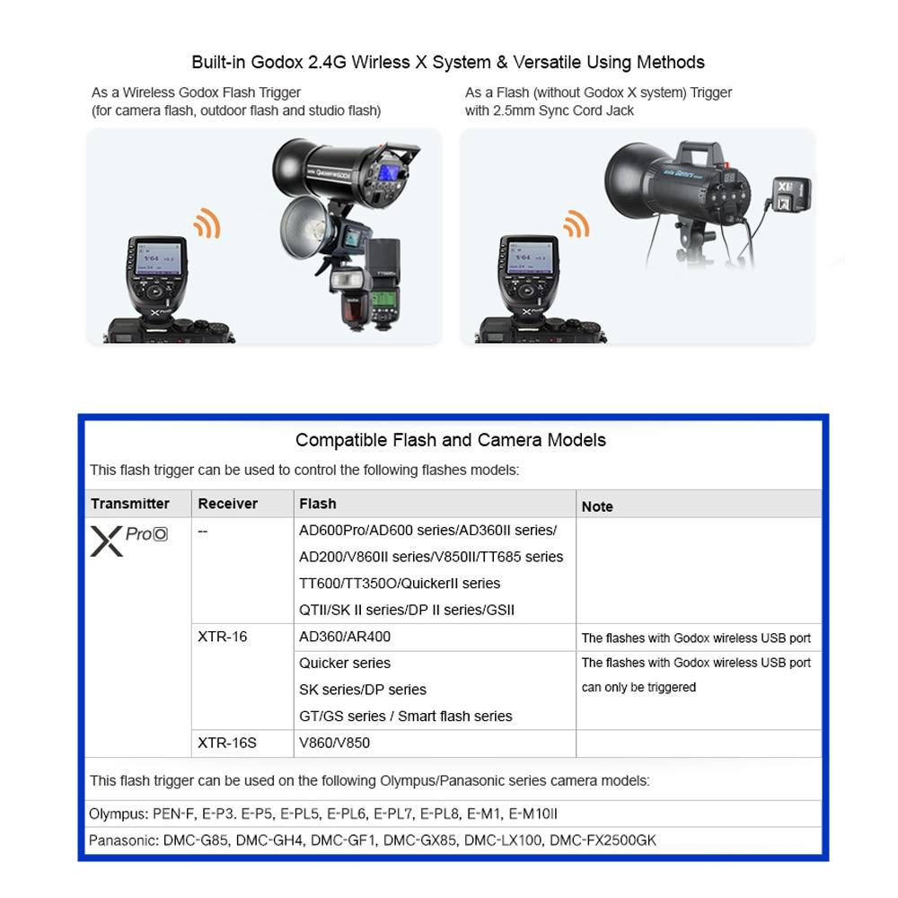 2Godox Xpro-O 2.4G wireless X system TTL HSS Camera Flash Transmitter (42)_