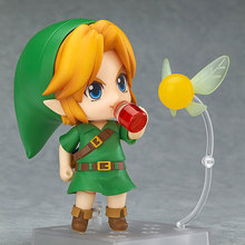 Cute Anime Plush dolls The Legend of Zelda Stuffed Toys Link Magic Mask Change Face Joint movement  Kids Action Figure Peppet