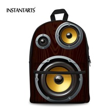 INSTANTARTS Loud Speaker Printing Backpacks for Teenagers Boys Laptop Canvas Book Shoulder Bags Casual Students Travel Rucksacks(China)