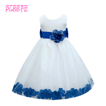 Retail Floral Around Flower Girl Dresses Party Pageant Communion Dress Little Girls Dresses for Wedding LP-56
