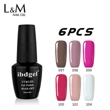 Soak Off Gel Nail Polish High Quality Gel Lacquer UV Nail Gel For Nail Gel Primer 6 Pcs Big Bottle Amazing Beautiful Color(China)
