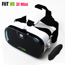 "Fiit VR 3F Mini Virtual Reality 3D Glasses Helmet VR 3D Movie Glasses Headset Box Cardboard for 4.0-6.3""Smartphone+Controller"