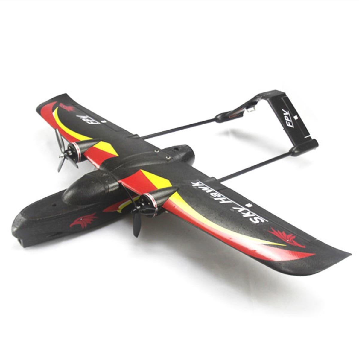 SKY HAWK V2 940mm Wingspan EPP Double Motor Device FPV RC Airplane Kit/PNP Black Electric RC Glider