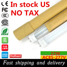 led tube 4ft 22W led tube light t8 1200mm AC85-277v led fluorescent tube lamp in US warehouse fast shipping and delivery(China)
