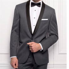 Buy HB037 New Custom Made Men Suits Slim Fit Groom Tuxedos Dark Gray Wedding Suit Best Man Groomsman Suit Bridegroom Suits 2 Pieces for $78.00 in AliExpress store