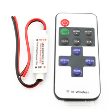 C9 RF Remote Controller DC 12V 11 Keys Mini Dimmer for Led Single Color Strip 5050 3528 home lighting