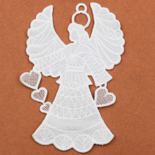Angel Craft Collar Venise Applique Trim Decorated Lace Collar Sewing love heart  Props Garland Bridal Shower Wedding Decoration