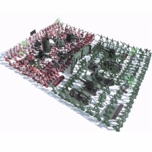 270 Pcs/lot Nostalgic Soldier Toy Military Figures Kit Army Men Sand Scene Model