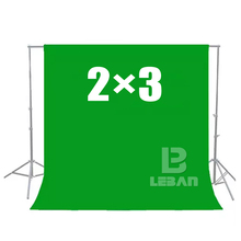 Green Screen Chroma key 2 x 3M Background Backdrop for Studio Photo lighting (Thickening version)(China)