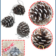 9Pcs Christmas Ornaments Pine Cone Festival Party Xmas Tree Hanging Decorations Gifts Pendant High Quality
