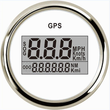 1pc 52mm Digital GPS Speedometers Odometers 9-32V Speed Mileometer for Ships Automobiles with GPS Antenna White(China)