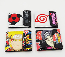 Cartoon anime NARUTO wallet leather pu men women Bifold short Purse 4 style