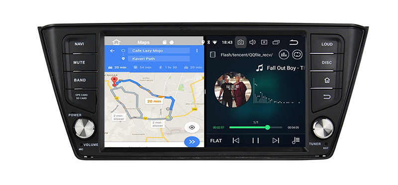 android 8.0 autoradio head unit skoda fabia 3
