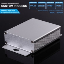 YGK-007 64*23.5-75mm (WxH-D) anodizing silver color aluminum customizing extrusion box for PCB design enclosure