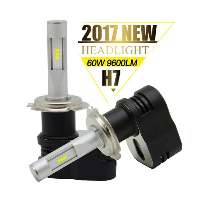 OCSION 2017 Newest H7 Headlight Bulbs 60W 9600LM Automobiles Car Headlights 6000K White 12V 24V Auto Lamp H1 H3 H4 H11<br>