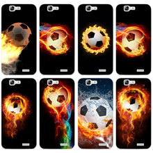 H084 Fire Football Soccer Ball Transparent Hard Thin Skin Case Cover For Huawei P 6 7 8 9 10 Lite Plus Honor 6 7 8 4C 4X G7