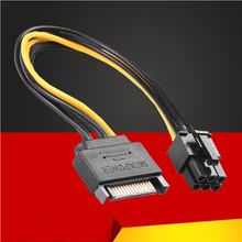 Buy 15Pin SATA 6Pin Power Cable Connector 6P PCI-E PCI Express Adapter Graphics Card Riser Card Converter Cable BTC Mining for $0.73 in AliExpress store