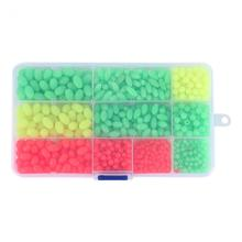 1000Pcs/Box Plastic Glow Fishing Beads Roundl Luminous Floating Fishing Lure Soft Plastic Tackle Accessories