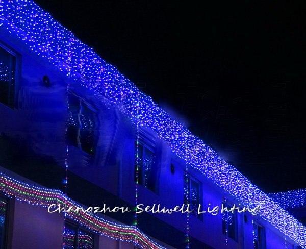 NEW!LED christmas lighting yard decoration 1*6m blue LED star backdrop lamp H199<br>