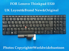 100% BRAND NEW ORIGINAL Laptop Keyboard For IBM Lenovo Thinkpad Edge E520 E525 UK Layout Keyboard Free shipping