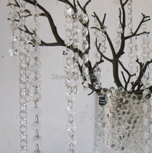 Free shipping 16 ft/Lot 14mm Sunflower Glass Crystal Garland, Crystal Strands clear wedding crystal decor wedding wish decor