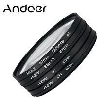 Andoer 67mm UV+CPL+Close-Up+4 +Star 8-Point Filter Macro Close-Up Star 8-Point Filter for Nikon Canon Pentax Sony DSLR Cameras