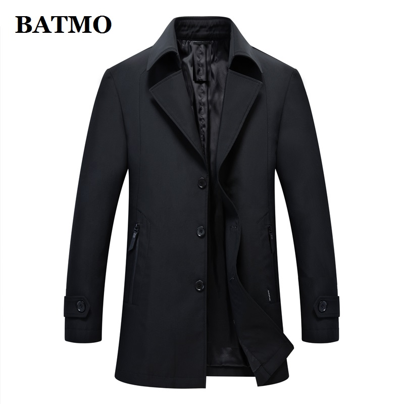 BATMO 2019 New brand spring summer casual men's outwear jacket mens jackets and coats black windbreaker mens overcoat 9818