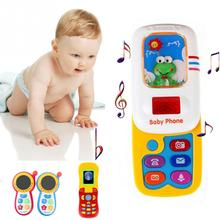 Hot Baby Early Learning Training Machines toy phone intellectual development sounds kids educational musical Phone For Children(China)