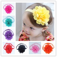 New 2016 Hair Accessories European And American Style Mesh Elastic Children's Hairband Drop Shipping(China)