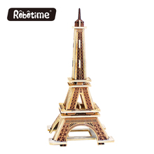 Robotime Mini Building Model Toys DIY Kit Christmas Decoration Craft Eiffel Tower Toys for Children 2017 New(China)