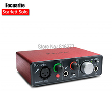 New Version Focusrite Scarlett Solo (2nd gen) 2 input 2 output USB audio interface sound card for recording Microphone Guitar