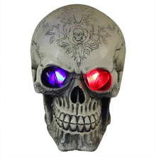 Halloween Light Skull Decoration Party Accessories Bar Celebration Craft Supplies Haunted Room DIY Ornaments Skeleton Holiday(China)