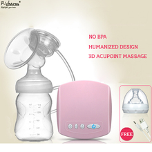Automatic Mamadeira Milk Pumps Brand Electric Breast Pump Natural Suction Enlarger Kit Feeding Bottle USB Breast Pump Milksucker(China)
