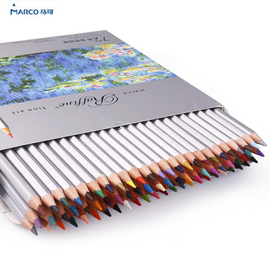 Marco Raffine colored pencils color pencils drawing profesional set 24 36 48 72 Colors Drawing Sketches Colour Pencil case <br><br>Aliexpress