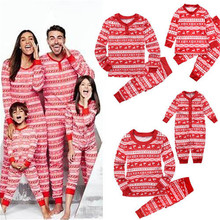 Christmas Long Sleeve Family Matching Outfits Casual Cotton Pajamas Sets For Mom Daddy Kids And Baby Lovely Family Sets