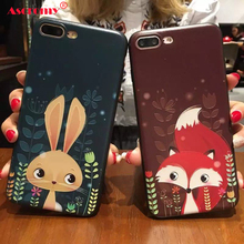 Ascromy 3D Relief Cartoon Soft TPU Silicone Case For iPhone 7 Cases For iphone 5 5s SE 6 6S 7 PLus Back Cover Phone Cases Fundas(China)