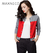 MaxNico New 2017 Fashion Winter Women Sweater Double Breasted Cardigans For Women Female Sweater Cardigans Feminino(China)