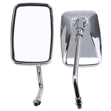10mm Universal Motorcycle Mirrors Side Rearview Mirrors Square Mirrors For Yamaha Suzuki Harley 883 Honda dio piaggio Cafe Racer