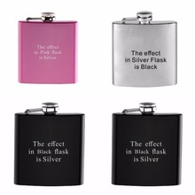 1 Piece Complete Private Personalized Engraved 6 oz Stainless Steel Hip Flask Any Simple Design