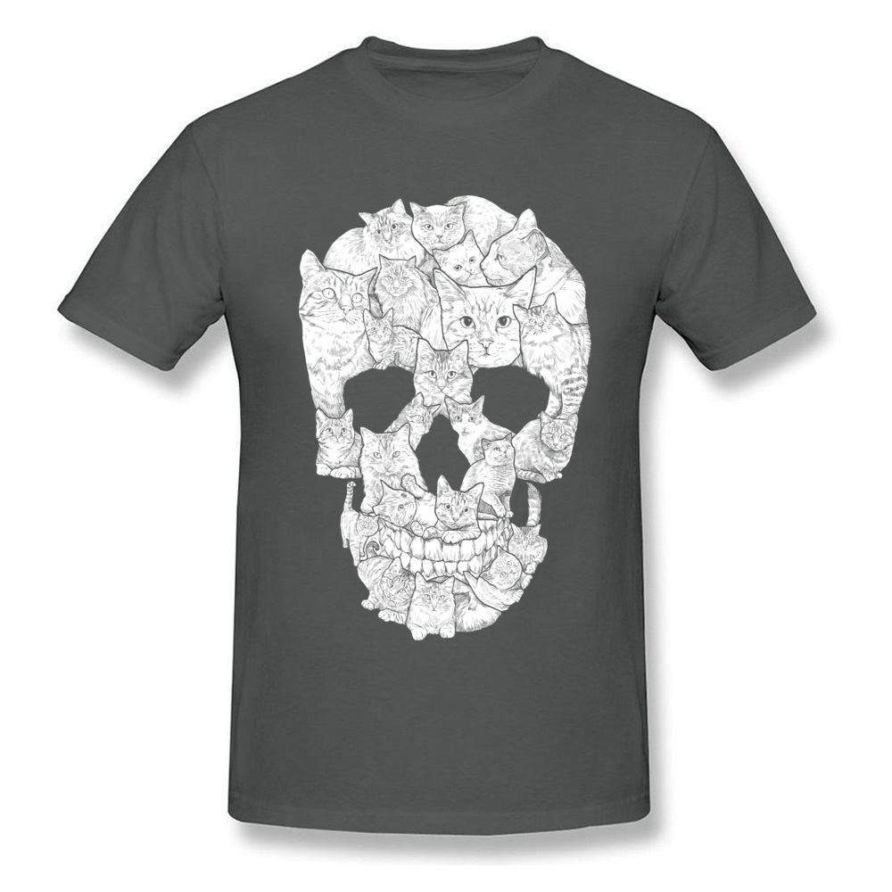 Sketchy Cat Skull Wholesale Short Sleeve Camisa T Shirt 100% Coon O-Neck Men T Shirt Casual Tee-Shirt Summer Autumn Sketchy Cat Skull carbon