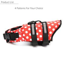 Size L Pet Dog Life Jacket Dog Saver Swimming Vest Preserver Aquatic Coat Summer Pet Dogs Swimwear Puppy Safety Life Clothes(China)