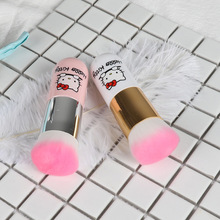 Round Makeup Chubby Pier foundation Brush, BB Cream Cute Hello Kitty Face Powder Cosmetic Blush Brush Make Up Beauty Tool(China)