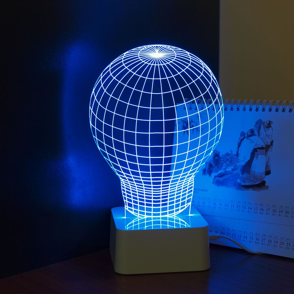 Bulb 3D Led Desk Lamp for Home Decor Crystal Night Light Luminaria de Mesa Kids Bedroom Lampara Amazing Gift<br><br>Aliexpress